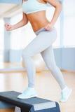 Kroków aerobiki Fotografia Stock