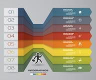 8 kroków Infographics elementu mapa dla prezentaci 10 eps Obrazy Royalty Free