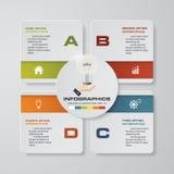 4 kroków infographics prezentaci szablon 4 kroka z kwadratem i przestrzenią dla twój próbka dane lub teksta Zdjęcia Stock