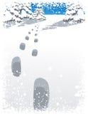 kroków lasowa opadu śniegu zima Zdjęcie Stock