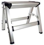 krok aluminiowa drabinowa stolec Obrazy Royalty Free