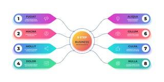Krok 3D infographic Realistycznego okręgu graficzna mapa, round biznesowego wykresu układ, krok prezentacja Wektorowy obieg ilustracja wektor
