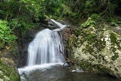 Krok-E-Dok las tropikalny na górze i siklawa obraz stock