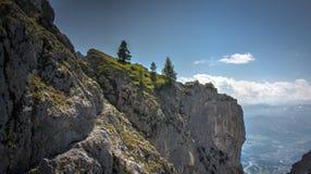 Krok falezy w Austriackich górach zdjęcia stock