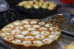 Krok Kanom, тайский рис стиля и блинчик кокоса Тайское streetfood стоковая фотография rf