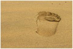 Krok na plaży Zdjęcia Royalty Free