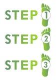 Krok po kroku 1-2-3 Zdjęcie Royalty Free
