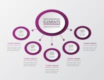 Krok po kroku infographic Obrazy Royalty Free