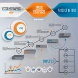 Krok po kroku infographics ilustracja Fotografia Royalty Free