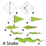 Krok po kroku instrukcje dlaczego robić origami myszy Obrazy Royalty Free