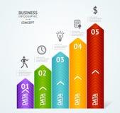 Krok po kroku sukcesu infographics ilustracja ilustracja wektor