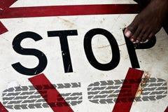 Krok zatrzymywać Obraz Stock
