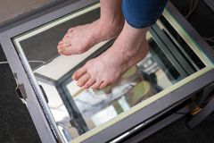 Kroka Cyfrowego Nożny obraz cyfrowy, Orthotics Nożny obraz cyfrowy dla Na Zamówienie Obuwianej brandzli, postury i równowagi anal obrazy stock
