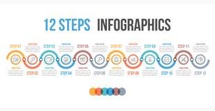 12 kroka Infographics ilustracja wektor