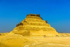 Kroka ostrosłup Djoser przy Saqqara Zdjęcia Stock