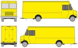 Kroka samochód dostawczy dla projekta Ilustracja Wektor
