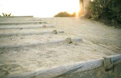 Kroka sposób plaża Zdjęcia Royalty Free