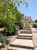 Kroki świątynia Juno Hera w Agrigento Obraz Stock