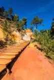 Kroki dla turystów na stromym skłonie Zdjęcie Royalty Free