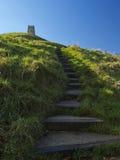 kroki glastonbury tor Zdjęcie Stock