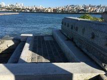 Kroki i ławki dla Falowego organu z widokiem San Fransisco zatoki, zdjęcia royalty free