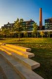 Kroki i widok smokestack w Georgetown, Waszyngton, DC obraz royalty free