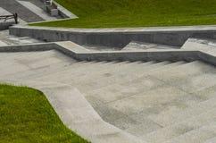 Kroki, kamień, schody, architektura, struktura, szarość, natura Zdjęcia Royalty Free