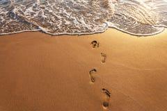 Kroki na plaży obraz royalty free