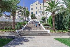 Kroki od w centrum Mahon portowy teren Zdjęcie Royalty Free