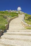 Kroki prowadzi stara przylądka punktu latarnia morska przy przylądka punktem na zewnątrz Kapsztad, Południowa Afryka Zdjęcie Royalty Free