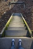 Kroki - puszek Thames brzeg obrazy royalty free