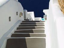 Kroki Santorini Grecja lub schody Obrazy Royalty Free