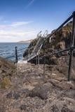 Kroki skalisty cypel przy Północnym Berwick Zdjęcia Royalty Free