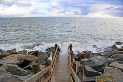 Kroki w morze obraz royalty free