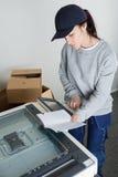 Kroki w zacerowania copier Obrazy Royalty Free