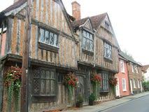 Krokig medeltida stad Royaltyfri Foto