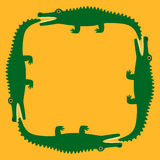 Krokodil royaltyfri illustrationer