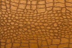 Krokodil Browns Retro- Leder-Beschaffenheit Lizenzfreie Stockfotografie