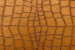 Krokodil Browns Retro- Leder-Beschaffenheit Stockbilder
