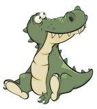 Krokodil cartoon Fotografering för Bildbyråer