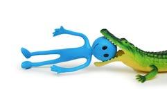 Krokodil die smilie doodt Stock Fotografie