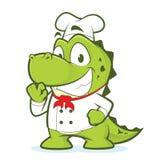 Krokodil- eller alligatorkock stock illustrationer