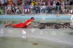 Krokodil-Erscheinen stockfoto