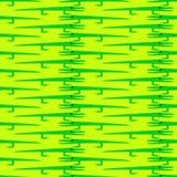 Krokodil gegenüber von Muster Stockbild