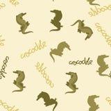 Krokodil gestileerd vector naadloos patroon op achtergrond Stock Foto