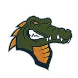 Krokodil hoofdmascotte Stock Afbeelding