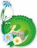 Krokodil, illustratie voor kinderen Vectorillustratie gemakkelijke editable voor boekontwerp royalty-vrije illustratie