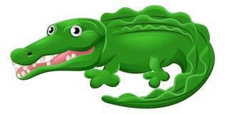 Krokodil-oder Alligatortier-Zeichentrickfilm-Figur Stockfotografie