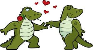 Krokodil Romance lizenzfreie abbildung