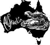 Krokodil som australiensiskt symbol Arkivbild